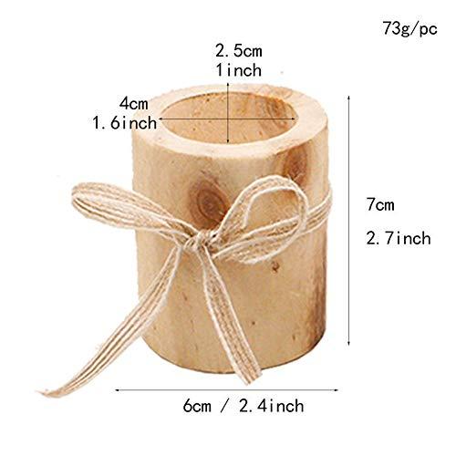 SMXGF Kandelaar Candle Holder tafeldecoratie Vetplant Bloempot for Rustiek Huwelijk Decoratie van de vakantie (Color : A L)