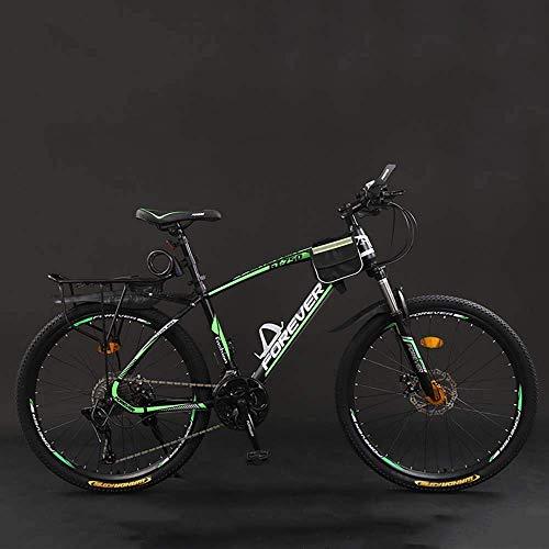 Bicicleta Bicicleta, 26 Pulgadas 21/24/27/30 Bicicletas de montaña, Velocidad Duro de la Cola de la Bicicleta de montaña, Bicicleta de Peso Ligero con Asiento Ajustable, Doble Disco de