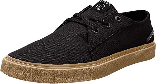 Volcom New School Sndl Pink Zehentrenner Zapatillas Hombre, Negro (Black), 40.5 EU (7 UK)