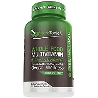 Herbtonics Whole Food Multivitamin with 62 Superfoods