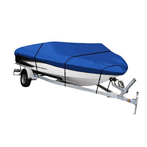 GKTF Cubierta para Barco Polvo, 420D Anti-UV Resistente al Agua Sombrilla Antióxido Protector Ajuste V-Hull Tri-Hull Pesca Esquí Barcos Bajos,20to22ft:700x254cm