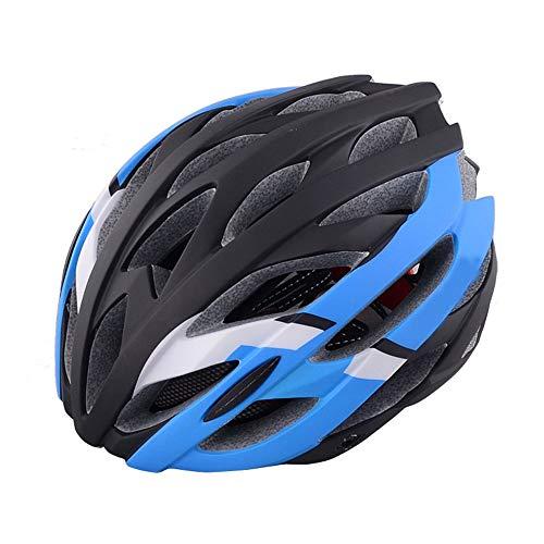 U/D Aspecto atomizado Casco de equitación integrada del Casco de Ciclista Hombres y Mujeres Transpirable Casco (Color : Azul)