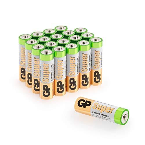 GP Batteries - Pack de 20 Pilas AA Alcalinas | Capacidad y duración excepcional | 1,5V LR06 - Mignon - MN1500-15A - AM3