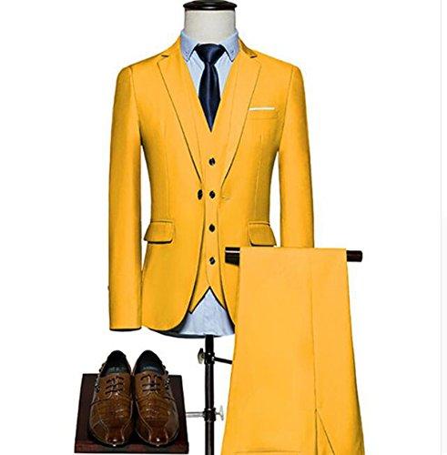 Yellow Wedding Suit for Men 3 Pieces Mens Suit...