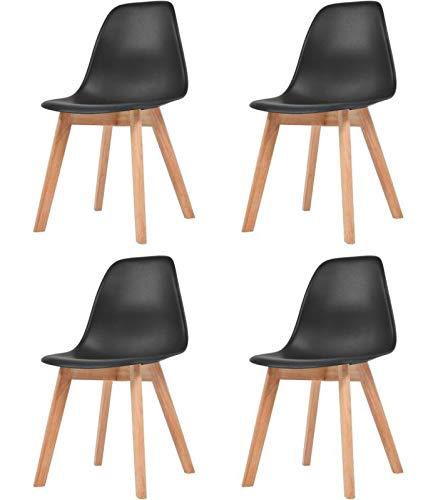Tresice France – Juego de 4 sillas escandinavas negras – Nina