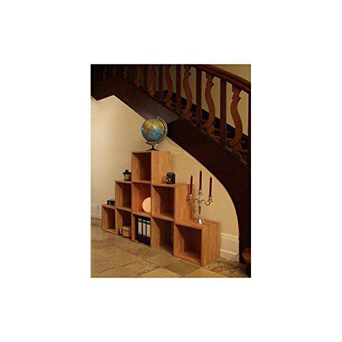 Isfort Holzhandels GmbH Flurregal (aus 6 Regalwürfeln), Buche Massivholz geölt, Pyramide 3-2-1, echtes Holz