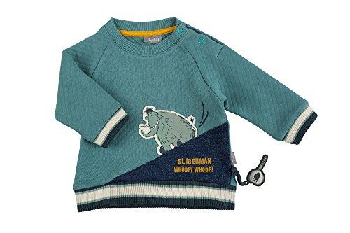 Sigikid Baby-Jungen Langarmshirt, Blau (Arctic 513), 92