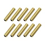 uxcell Brass Round Tube, 6mm OD 1mm Wall Thickness 30mm Length Seamless Pipe Tubing for DIY Crafts 10 Pcs