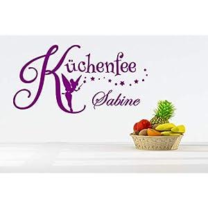 *NEU* Wandaufkleber/Wandtattoo/Wandsticker – Spruch für die Küche ***Küchenfee + Wunschname*** (Größen.- und Farbauswahl…