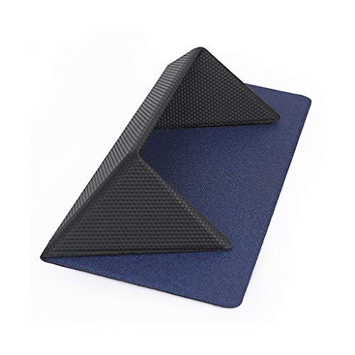 Love lamp notebookstaander glasvezel draagbaar bureaustoelkussen opvouwbaar koelvak notebook opslagruimte grijs 9,44 × 9,64 × 0,08 inch, blauw