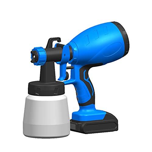 Kecheer Pistola de pintura a bateria,Pulverizador de pintura a bateria inalámbrico,Rociador de pintura máquina para pintar casas,muebles
