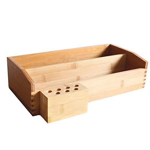 Boîte à Bijoux Sac Cosmétique Multi-Fonction Type de tiroir en Bambou boîte de Rangement cosmétique Grande Couleur de Bois de Stockage de Bureau créatif