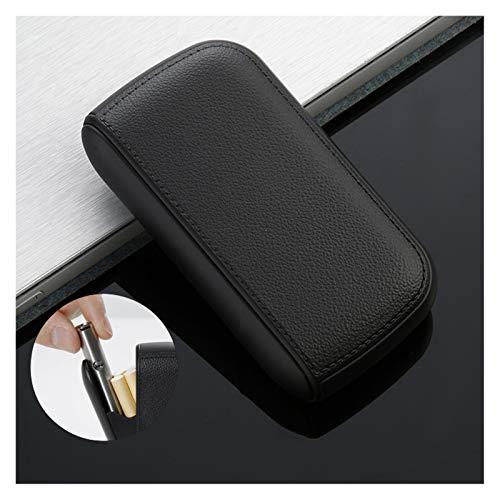 2-in-1 Aluminium Zigarettenbox, Zigarettenetui mit integriertem USB-Feuerzeug, Tragbar Zigarettenschachtel, wiederaufladbar flammenlos Winddicht für 10 Stück normale Zigaretten Männer Geschenk,Schwarz