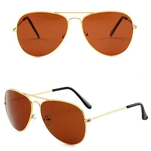 YIERJIU Gafas de Sol Gafas de Sol Hombres Ojos protegen Gafas de Sol con Revestimiento Deportivo Venta al por Mayor Verano Nuevas Gafas de Sol con Revestimiento Mujeres y Hombres Top Fashion,Tea