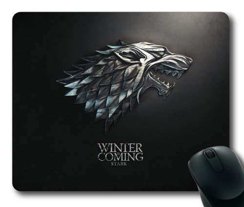 BGLKCS Game of The Thrones Winter is Coming Stark Mouse Pad/Mouse Mat Rectangle by ieasycenter (Winter)