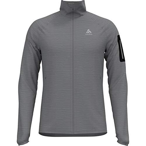 Odlo Midlayer Full Zip Steam Sweat-Shirt Homme, Grey Melange, XXL