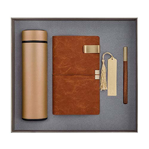 langchao notebook set termo taza bluetooth audio USB pen regalo de empresa regalo práctico LDA-04 oro