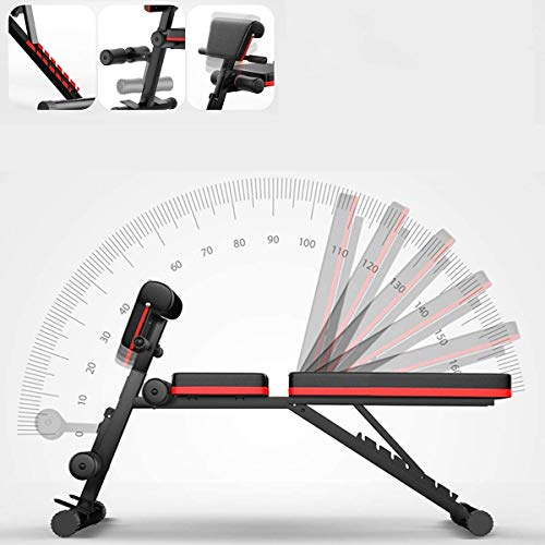 Nisorpa Dumbbell Bench Foldable Weight Bench With Adjustable Backrest and Priest Stool For Full Body Training Workout Sit Up