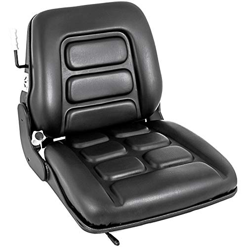 Mophorn Universal Forklift Seat with Safety Switch, Suspension Seat for Truck, Forklift Seat Vinyl Compatible with Toyota, Clark, Cat, Hyster, and Ysle, with 3 Stage Weight Adjustment