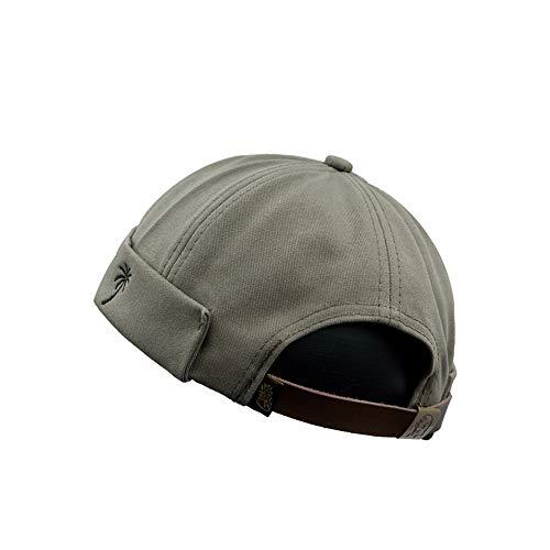 YAMEE Docker-Cap Docker Mütze Seemannsmütze Hafenmütze Herrenmütze Bikercap Hat Wandermütze Dockercap Kopfbedeckung Seemannskappe(Kopfumfang Größenverstellbar)