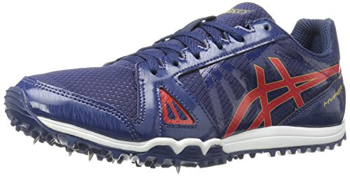 ASICS Men's Hyper XC Cross-Country Running Shoe, Estate Blue/Vermilion/Rich Gold, 13 M US