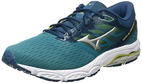 Mizuno Wave Prodigy 3, Zapatillas para Correr de Carretera Hombre, Hblue Gsilver Eprimrose, 45 EU