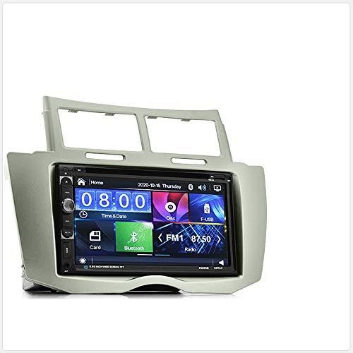 tunez 7'Inch Dash Video Doppio Din Car DVD CD MP3 Player Radio stereo USB per Aftermarket Toyota Yaris (2nd Generation, XP90) Anno 2006-2011 Unità principale