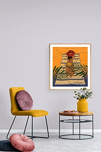 MG global Playa estilo de vida tropical chica imprimible arte de pared para decoración del hogar, tu casa de vacaciones de verano, regalos para amigos y familia sin marco arte de pared