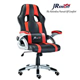 JR Knight Gaming Chair, Sporty Racer Chair Updated Version High Back Faux Leather