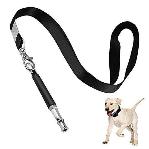 NUIBO Dog Whistle to Stop Barking Silent Dog Whistles Only Dogs Can Hear Training Adjustable Pitch Ultrasonic Dog Training Kit with Lanyard for Dog Recall Repel