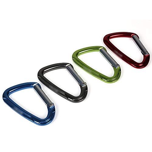 QIEZI Kletterausrüstung Gerade Tür hängend Professionelle Schnelle Sicherheit Master Lock Außen Klettern EIS Hängen (Color : Red)