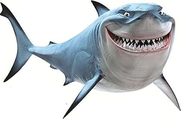 14 Inch Bruce The Shark Fish Are Friends Finding Nemo 2 Movie Removable Peel Self Stick Wall Decal Sticker Art Bathroom Kids Room Walt Disney Pixar Home Decor Boys Girls 14x9 Inches Tall