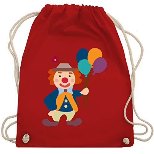 Shirtracer Bunt gemischt Kinder - Clown Luftballons - Unisize - Rot - turnbeutel clown - WM110 - Turnbeutel und Stoffbeutel aus Baumwolle
