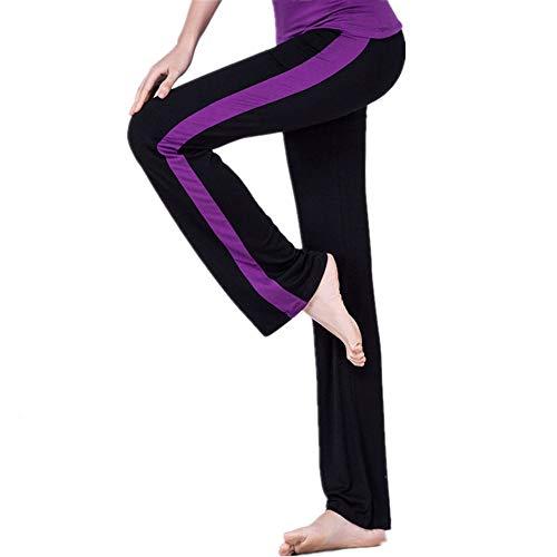 JPDD Damen Hose Jogginghose Flare Yoga Hose Fitness Hose Weites Straight Bein mit Tunnelzug Damen Bootcut Yogahose Flare Hose Fitness Leggings Sporthose Fitness Training Hosen Jogginghose