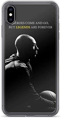 JINSHEN iPhone Case TPU Soft Shell Schokbestendig duidelijk Hoesje Helden komen en gaan Maar Legends zijn Voor altijd, iPhone 11