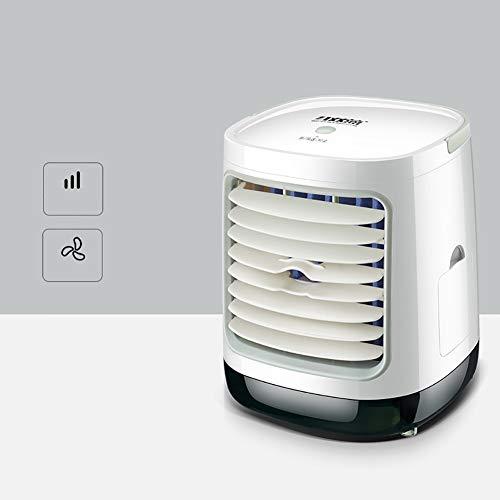 YOCASA Air Conditioner Fan Small Desktop Fan 3 Wind Mode Compact Super Quiet Personal Table Fan Mini Evaporative Air Circulator Cooler,USB Air Cooler White Rectangular