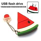 ZqiroLt Red Watermelon 16GB 32GB 64GB 128GB USB Pen Flash Drive U Disk Memory Stick Gift 128GB