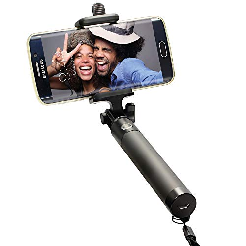 Selfie Stick Bluetooth, Portable Selfie Stick Monopod with Built-in Remote Shutter Works for iPhone 11/11Pro/ XS/XR/8/8P/7/7P/6S/6P/5S Android Smartphones ANERGER