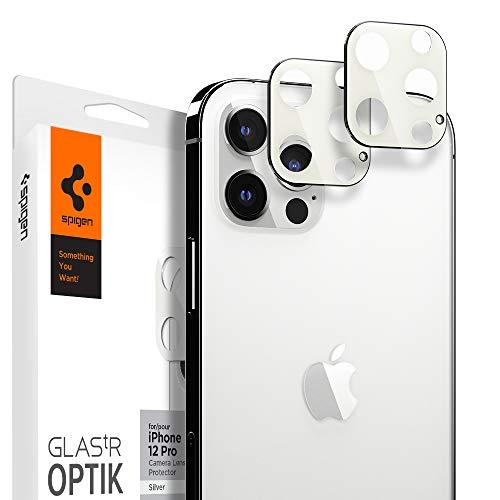 Spigen Glas tR Optik Cámara Lente Protector para iPhone 12 Pro Plata - 2 Unidades
