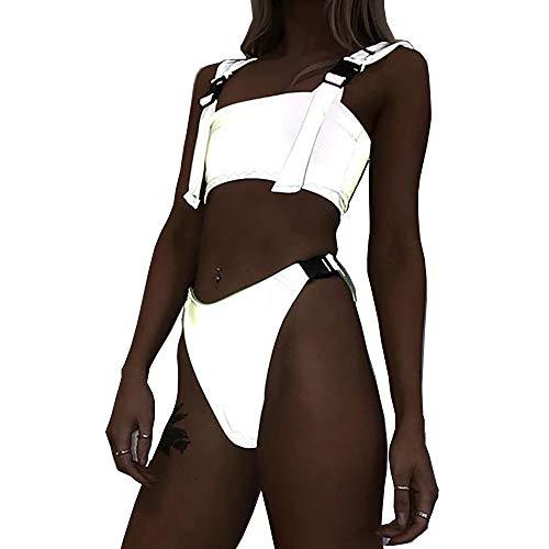 Reflektierender Bikini Set BH 2019 New Summer Women Shiny Glowing Swimwear Beachwear