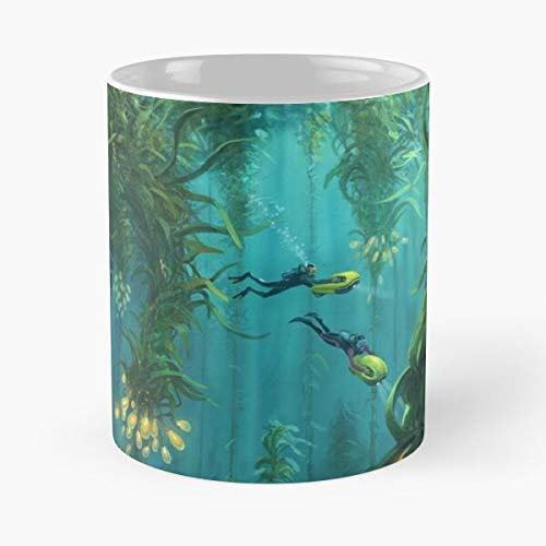 Fi Worlds Gamer Subnautica Sci Diver Games Unknown Diving Underwater Best Mug holds hand 11oz made from White marble ceramic