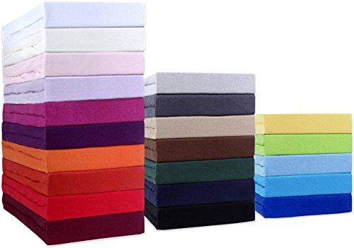 sumg home Jersey Spannbettlaken, Spannbetttuch TOP Preis-Leistungs-Verhältnis in vielen Größen und Farben MARKENQUALITÄT (120x200 cm, Schoko braun)