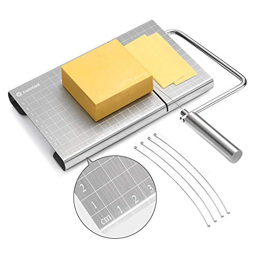 Stainless Steel Wire Cheese Cutter (with grid measuring markings)