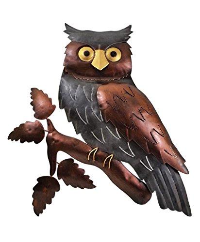 Klp Wanddeko Eule Vogel Uhu Ziervogel Metall Deko Bild Tier Figur Wandschmuck Hänger
