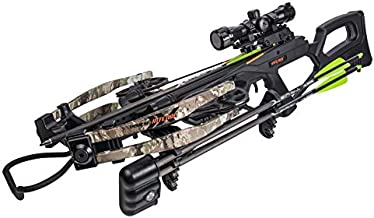 Bear X Intense Ready to Shoot Crossbow Package with Scope, Quiver, Bolts, Cocking Rope, and Wax, Stoke Finish, One Size (AC03A2A9185)