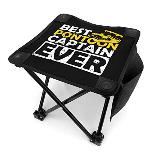 Best Pontoon Captain Ever Portable Folding Stool Camping Stool Folding Chair for BBQ,Camping,Fishing,Travel,Hiking,Garden