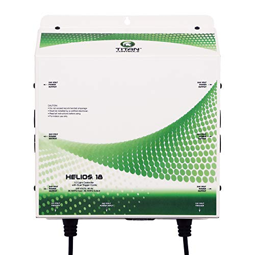 Titan Controls HGC702843 Professional Series Helios 18 - 12 Light 240 Volt Controller With Dual Trigger Cords, 240 Volt White