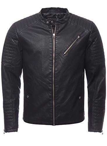 JACK & JONES Herren JORYOUR Daily Biker Jacket Jacke, Schwarz (Black), Small