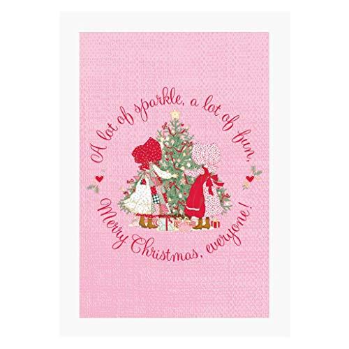 Holly Hobbie Christmas Sparkle And Fun A4 Print