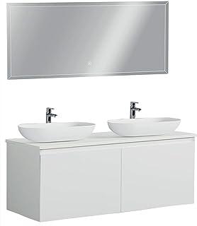 Amazon Fr Meuble De Salle De Bain Double Vasque 120 Cm